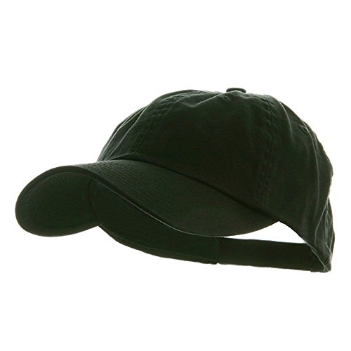 Low Profile Dyed Cotton Twill Cap - Black (Cotton Twill Baseball Hat)