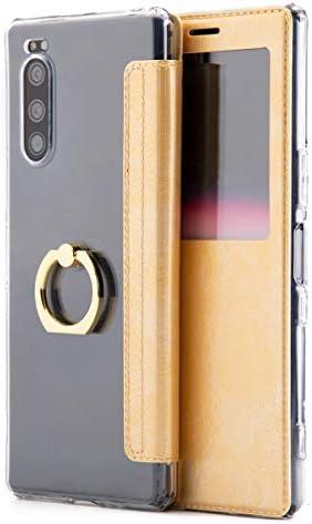 松平商会 イカス!スマホケース Xperia 5 SO-01M SOV41 901SO リング付き窓開き手帳型ケース スマホ ケース カバー エクスペリア 携帯 落下防止 手帳型 手帳 かわいい おしゃれ 人気 スマートフォン