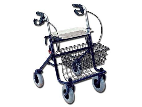 38 opinioni per Deambulatore da passeggio in acciao, con 4 ruote, cestello, vassoio e freno,