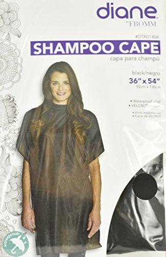 Diane Shampoo Cape 36 x 54 wtih Velcro in Black