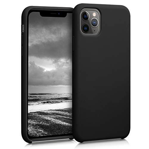kwmobile TPU Silicone Case Compatible with Apple iPhone 11 Pro Max - Soft Flexible Rubber Protective Cover - Black