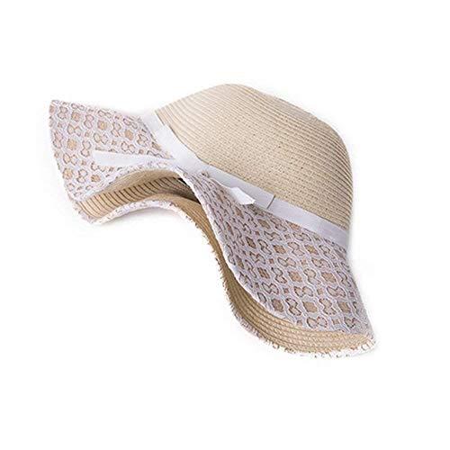 1 De Visor Playa 1 Fuxitoggo Sol Sombrero Verano Tamaño color Uv Paja 55w0rP1zY
