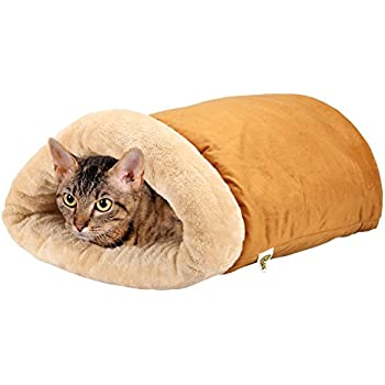 Self Warming Cat Thermal Bed - Cave Style - Luxury Four-Way Snuggly Cat Hideaways By Pet Magasin