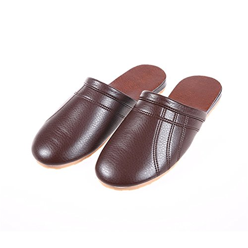 TELLW Femme Men Chaussons Brown pour OOwUq7Y