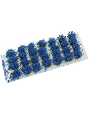 sharprepublic 8mm 1/72 1/48 1/35 1/24 Studio Grass Tufts Meadows Flowers Tuft for Making Model Building Surface Material 28Pcs/lot - Blue, as described