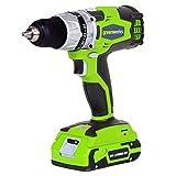 Greenworks 32032 2-Speed Drill, Green