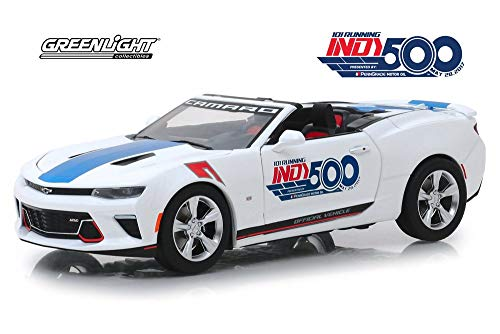 2017 Chevy Camaro SS Convertible, 101 Running Indy 500 Presented by PennGrade Motor Oil 500 Festival Event Car - Greenlight 18247 - 1/24 Scale Diecast Model Toy Car ()