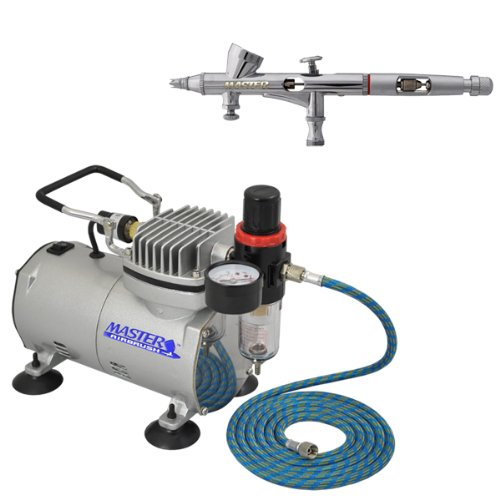 Master Airbrush Model G48 Airbrushing System with AirBrush-Depot TC-20 Tankless Air Compressor