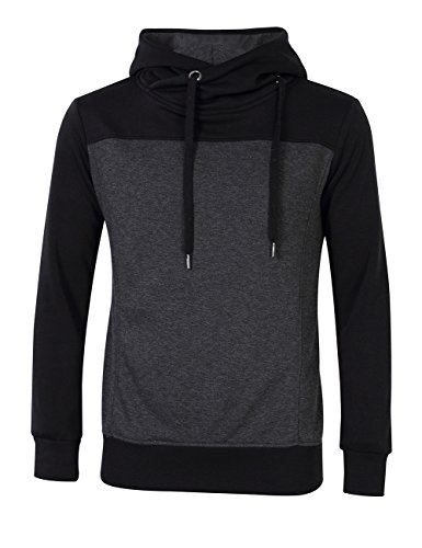 Gprince Men's Pullover Constrast Color Hoodie Fleece Sweatshirt - North Mall County