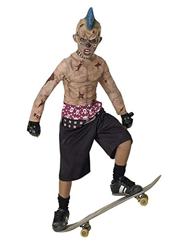 Punk Costume Ideas (Zombie Skate Punk Child Costume - Large)