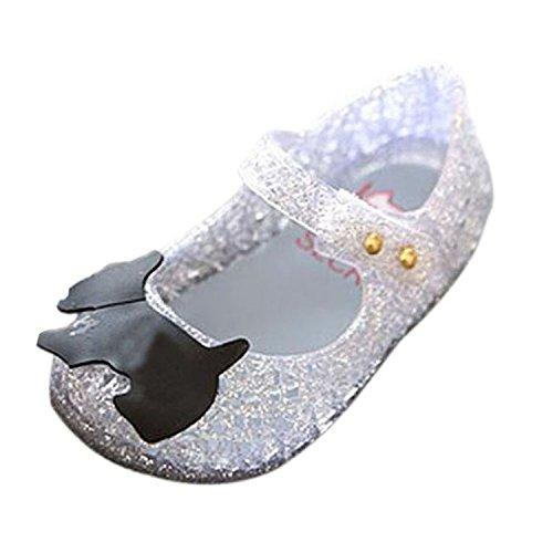 Meijunter Baby Mädchen Jungen Mode Atmungsaktiv Niedlich Weich Gelee Lässige Flache Schuhe Kinder Säugling Sandals Regen Stiefel Silber