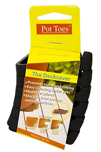 IGC Cartanna PT06-BLCS Bosmere Pot Toes, Dark Gray (Pack of 6)