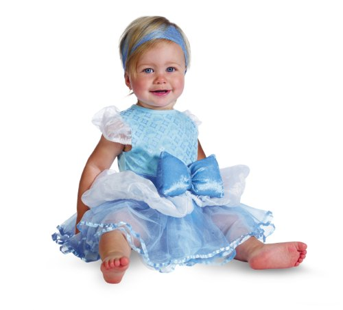 [Disguise Costumes Disney Princess Cinderella Prestige Infant, Blue/White, 12-18 Months] (Princess Costumes For Babies)