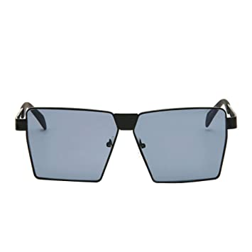 d494b99d1f9 Fashionable Square Metal Frame Reflective Sunglasses Mirrored Sunglasses  for Men Women (Black Frame with Grey Lens)  Amazon.in  Toys   Games