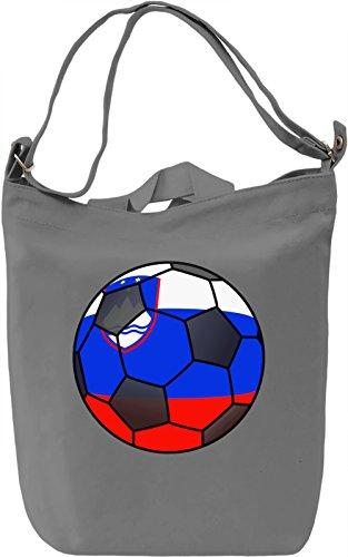 Slovenia Football Borsa Giornaliera Canvas Canvas Day Bag| 100% Premium Cotton Canvas| DTG Printing|