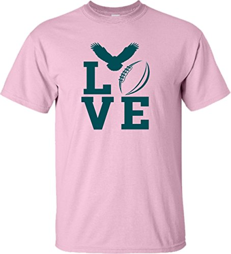 (YS 6-8 Pink Youth Love Football Philadelphia)
