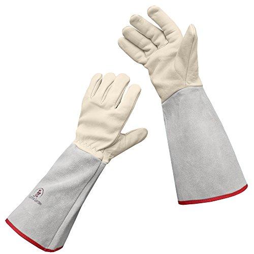 Euphoria Garden Thornproof Leather ROSE GARDENING Gauntlet Gloves - Large (Best Roses For Cutting Garden)