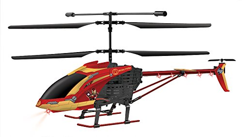 Marvel Licensed Avengers Age Ultron Iron Man 3.5CH RC Helicopter, Red/Black, 25.5 x 4 x 9.75