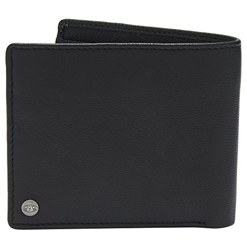 Durable Embossed Jeremie Bifold Leather Branded Animal Wallet Mens Black 5xXYUn5E