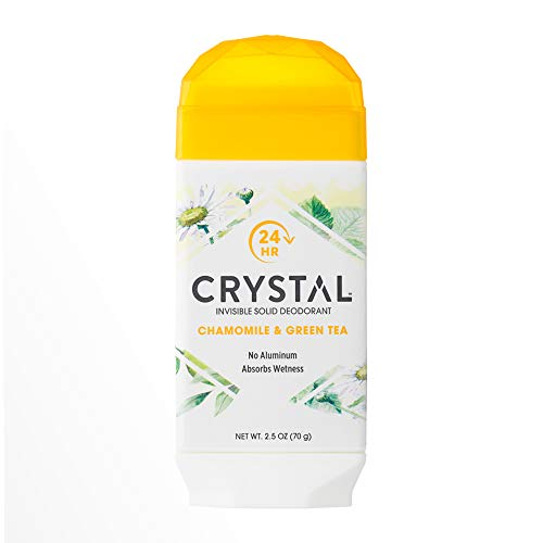 Crystal Crystal Invisible Solid Deodorant Absorbs Wetness, Chamomile & Green Tea, 2.5 Oz, 2.5 Oz
