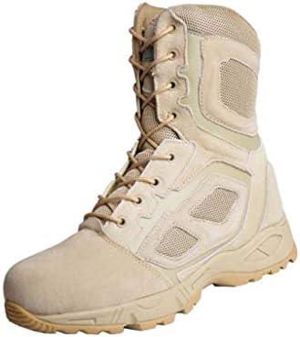 軍事戦術ブーツアンチ毛皮ウォームハイヘルプレースアップスタイルクッション滑り止め耐摩耗ラバーソールをキープ (色 : ベージュ, サイズ : 25 CM)