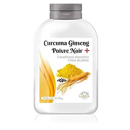 Curcuma Ginseng pimienta negro +, 95% 100 mg