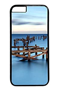Sea Cloudy Sunset Custom iphone 6 plus 5.5inch Case Cover Polycarbonate black