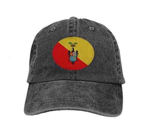 (Xunulyn Adjustable Cotton Hat Fashion Cotton Denim Baseball Cap Flag Palermo Sicily Italy Flag Palermo City Insular Italy ca Black)