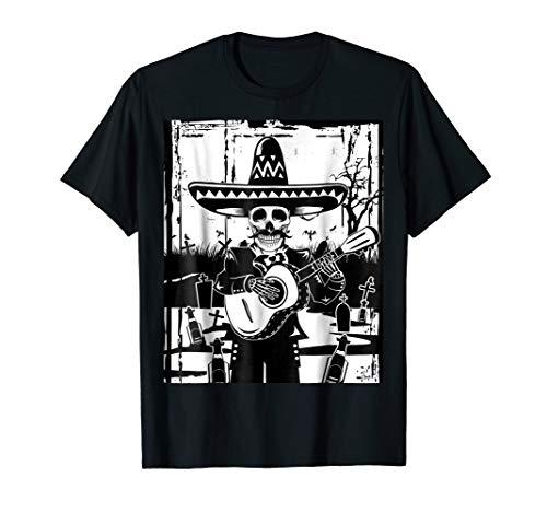 Mariachi Skeleton Shirt Dia De Los Muertos Tequila Tshirt]()