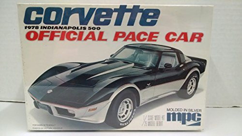 - MPC 3710 1978 Indianapolis 500 Corvette Official Pace Car 1:25 Scale Plastic Model Kit - Requires Assembly