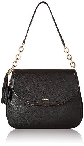 Calvin Klein Lynn Pebble Flap Hobo Shoulder Bag by Calvin Klein