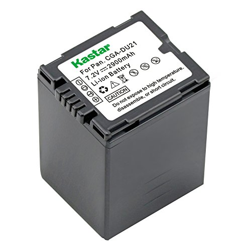 Kastar CGA-DU21 Battery for Panasonic Replacement VDR-D210 Camcorder Extended Battery Gs280 Camcorder Battery