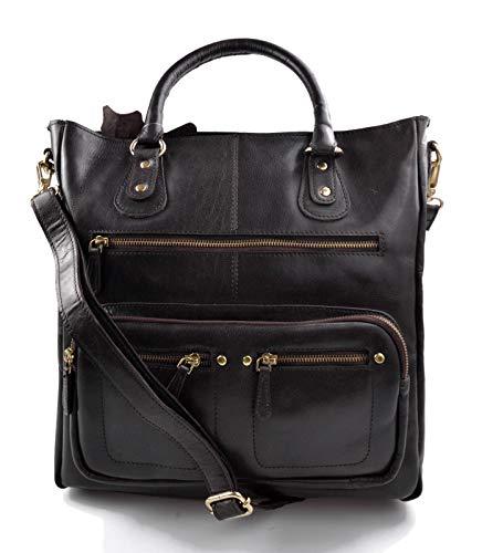- Ladies buffalo leather dark brown handbag womens shoulder bag leather satchel leather shopper handbag leather crossbody