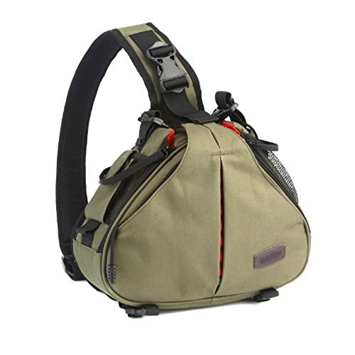 Outdoor Hiking Travel Camping Portable Waterproof Casual Triangle Shape Digital DSLR Camera Storage Messenger Shoulder Bag...