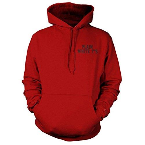 Plain White Ts Men's Circus Hooded Sweatshirt Small Red