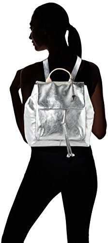 Argent Metallic Totterdown Clarks dos portés Sacs Leather Bay YZdqX