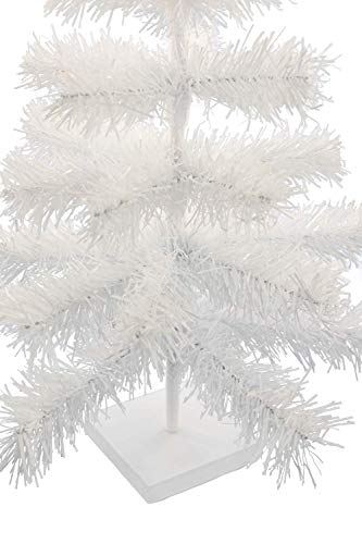 EST. LEE DISPLAY L D 1902 24'' Classic White Tinsel Feather Tree Tabletop Christmas Retail Tree by EST. LEE DISPLAY L D 1902 (Image #2)