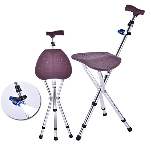 Healthcare Adjustable Aluminum cane stool leisure mountaineering canes elderly walking stick Walker ()