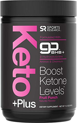 Keto PlusTM Exogenous Ketones (goBHBTM) - 30 Servings | Formulated for Ketosis, Energy and Focus | Keto Certified, Vegan Friendly (Fruit Punch)