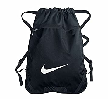 Nike Swoosh Logo Draw String Bag Gym Bag Gym-sack Blue Black BZ9731-067   Amazon.co.uk  Luggage 80750b054143