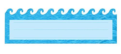 Hygloss Die-Cut Name Plate Ocean Waves 30-Pk (45557)