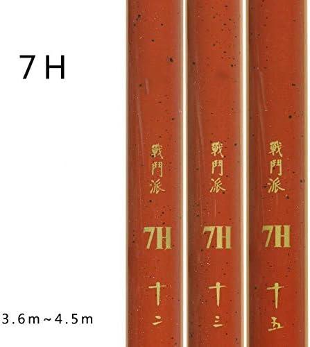 スーパーハードフィッシングロッド19/28チューニングフィッシングロッド7H / 6Hタイガーシャークカーボンブラックピットコイロッド、7H、5.4