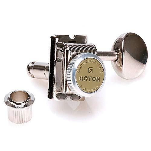 (Gotoh SD91 Nickel Magnum Lock Vintage Guitar Machine Heads Set 6 Inline)