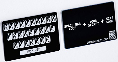 Qwertycards - The simple plastic card that goes in your wallet for easy to remember very strong passwords (Fake Credit Card Generator With Security Code)