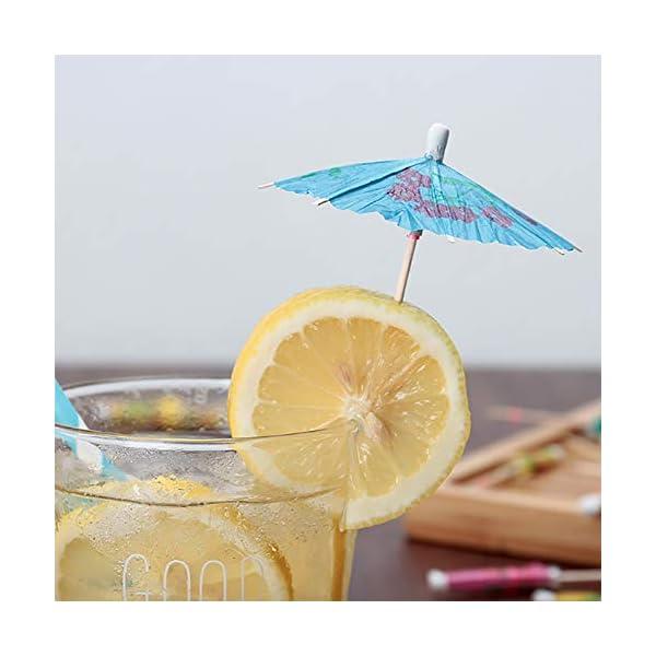 Siumir Ombrelli da Cocktail Mini Cocktail Parasols Accessori Decorazione di Bevande e Frutta 144 pcs 6 spesavip