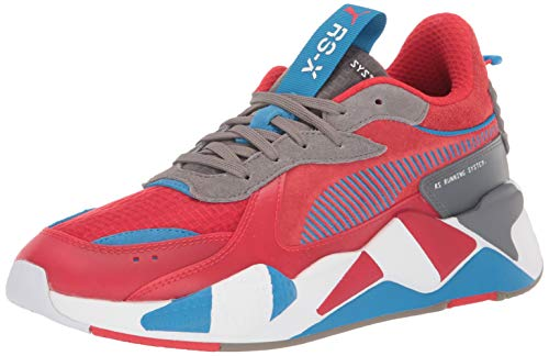 PUMA Men's RS-X Sneaker, High Risk red-Steel Gray-Indigo Bunting, 8.5 M US (Best Puma Shoes For Men)