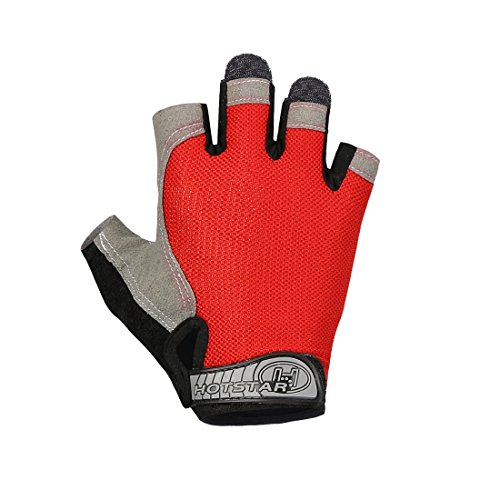 red and white cycling gloves - 4