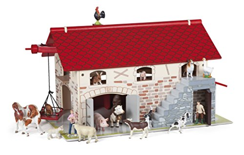 Wooden Barn with Animals