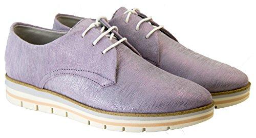 Tozzi Lavanda ata del Met Marco brogue el del zapatos para cuero los verano faux arriba del Mujer Zx5UqwFw
