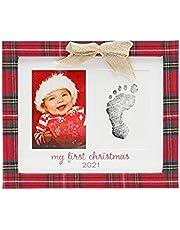 Kate & Milo Plaid Print Keepsake Holiday Frame Photo Frame, Baby's First Christmas Picture Frame, My First Christmas 2021